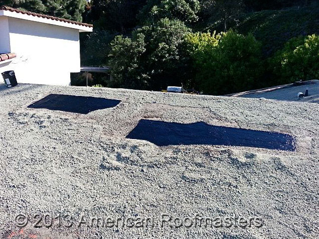 Rock Roof Repair Photos American Roofmasters Torrance Ca
